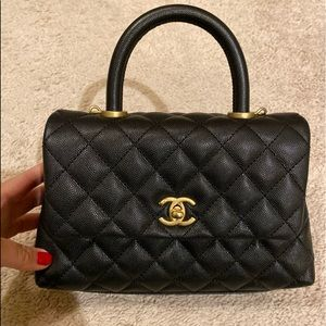 Chanel small flap with top handle